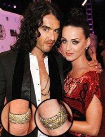 Katie Perry Diamond Wedding Bands/Image courtesy of People Magazine Style News